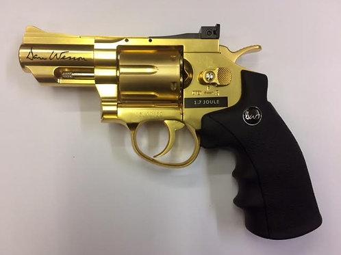 """DAN WESSON Co2 REVOLVER 2"""" GOLD .177 BB"""