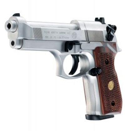 M92 FS Nickel Wood Grip Co2 Pistol Beretta (BEM92FSNW)