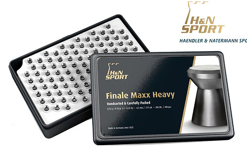 Finale Maxx Olympic Quality Pellets by H&N Heavy weight 8.18 grain 4.5 .177
