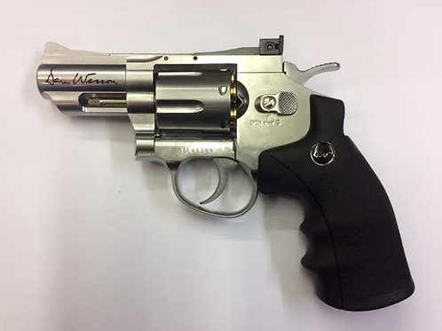 "DAN WESSON Co2 REVOLVER 2"" STAINLESS .177 PELLET"