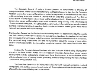 Breaking: Indian Consulate interferes with the Education System in Canada