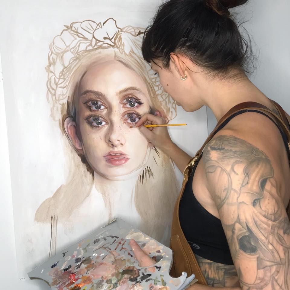 Alex Garant in her studio (c)