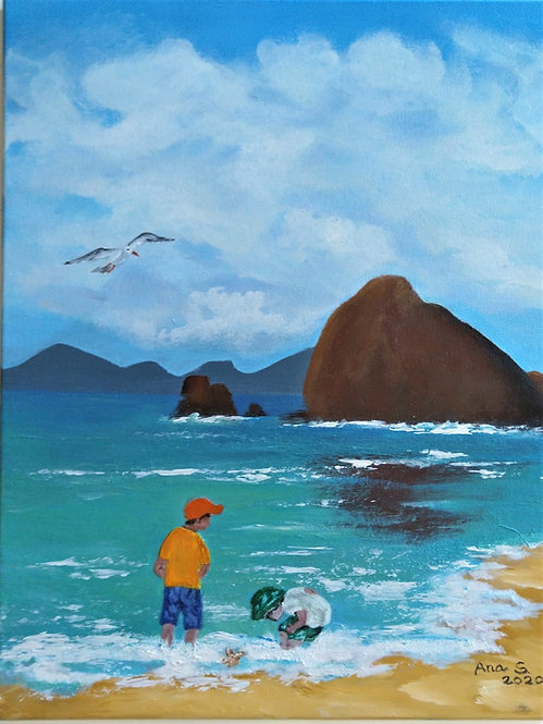 Children at the beach by Ana Paula Simoes