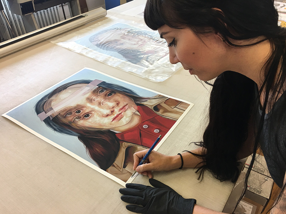 Alex Garant in her studio (c) - picture by Alex Garant