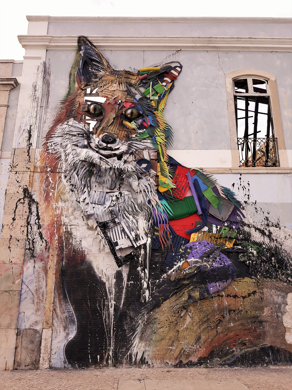 2017- Half fox installation by Bordalo II- Cais do Sodre, Lisbon - Picture taken by Artrootz