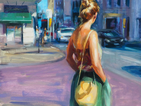 Wonderful feminine paintings by artist Monica Castanys