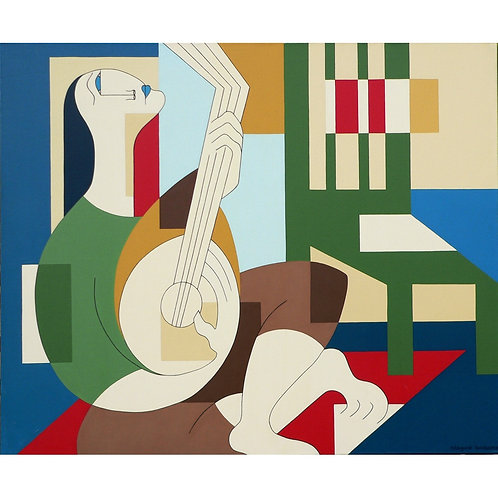 The Banjo Player by Hildegarde Handsaeme