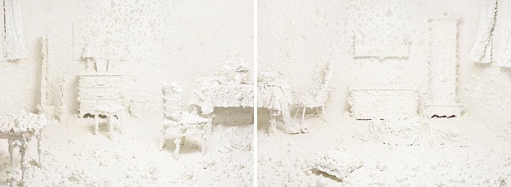 Anxiety, Inkjet print 2013, Diptych