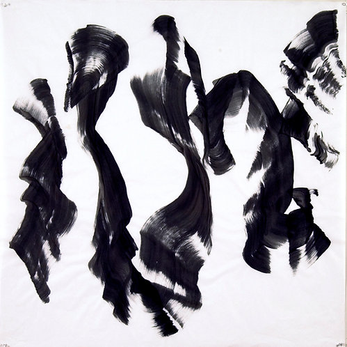 Jazz: Edward Simon's Venezuelan Suite #23 Brush Drawing by Ellen Priest