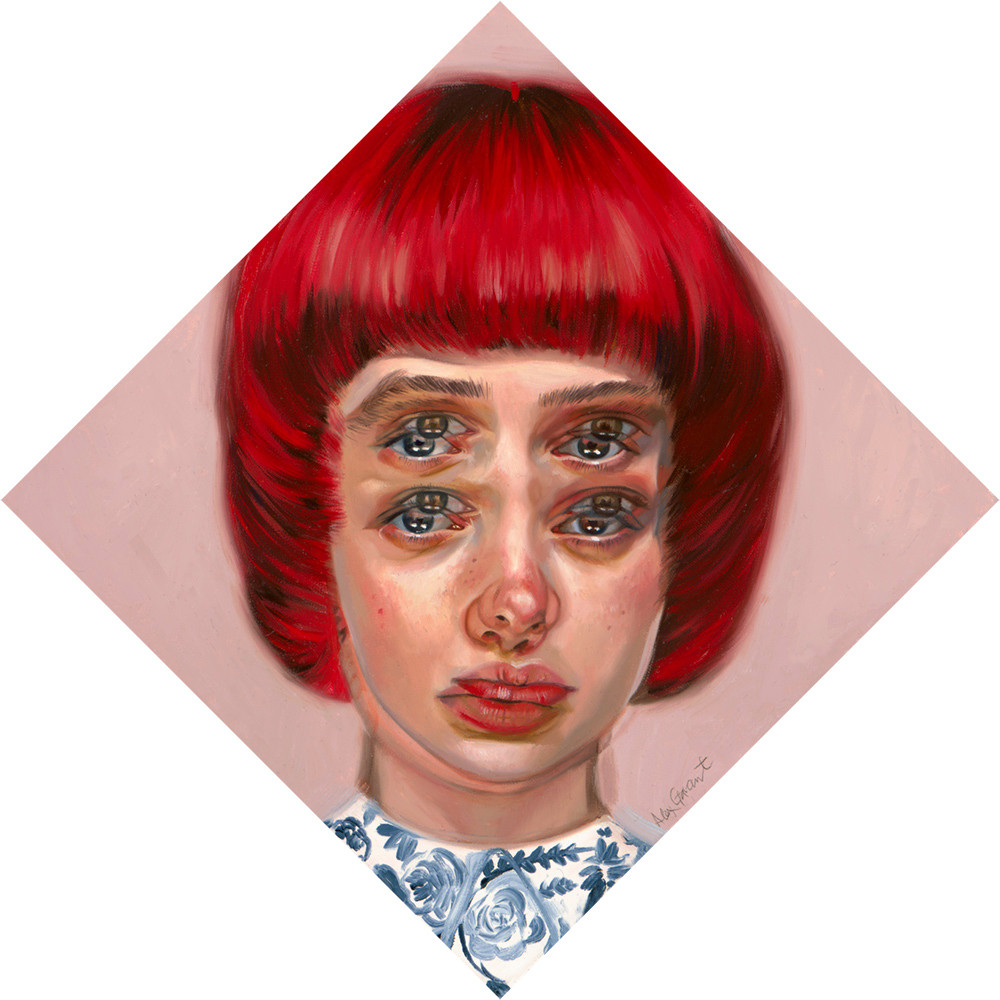 Alex Garant - Be a doll, 12x12, oil on canvas