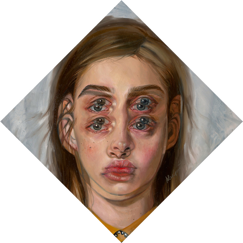 Alex Garant, Wind 12x12, oil on canvas