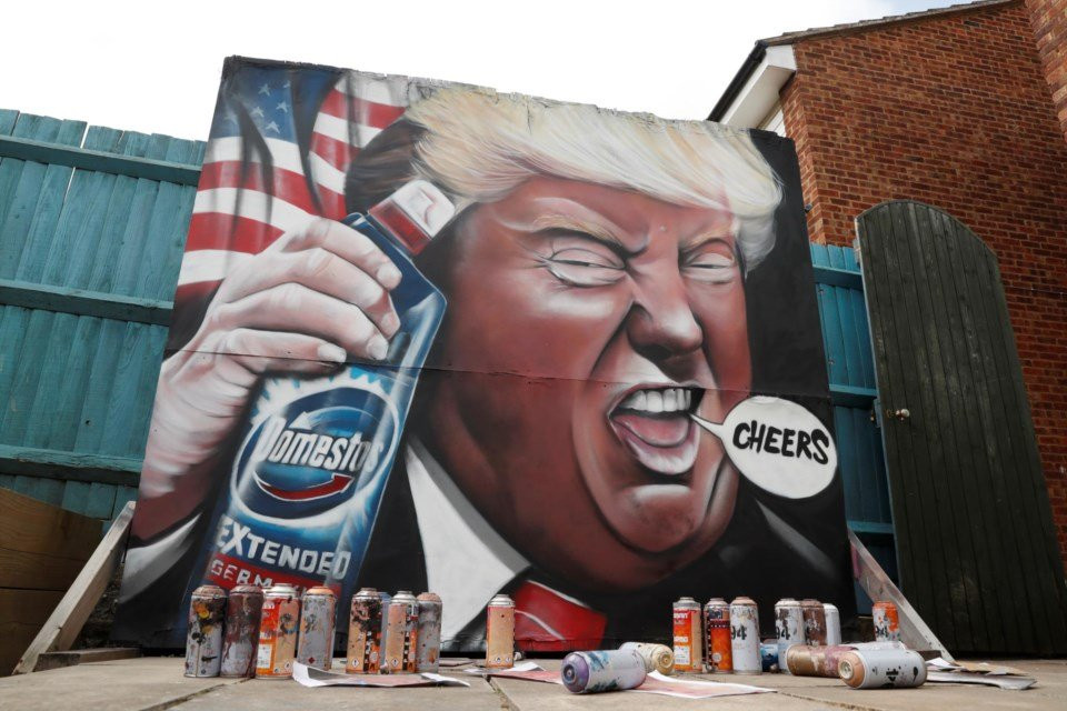 Trump graffiti in Royston, England