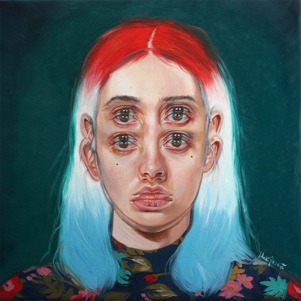 Alex Garant - Rocket Pop 12x12, oil on canvas