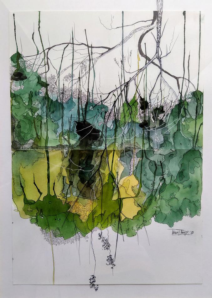 Los árboles lloran dorado III, 2020 - Tatiana Blanqué