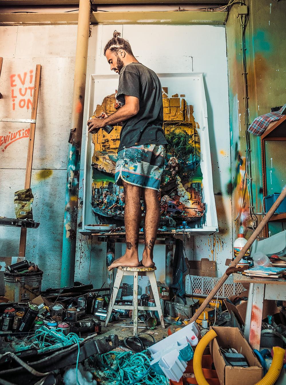 _Portrait of Bordalo II @ Lisbon Studio 2018 - photo by Miguel Portelinha