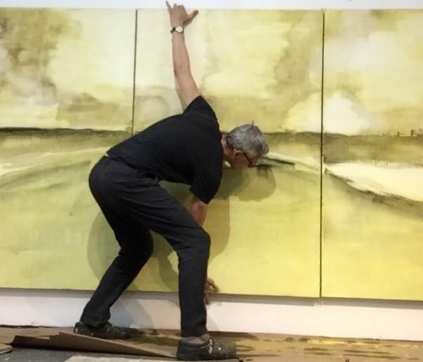 David Konigsberg in his studio (c)