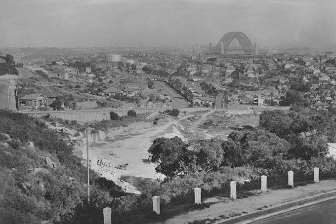 Neutral Bay, Sydney Harbour Bridge, Forsyth Park, 1937, Sydney harbour, Sydney history