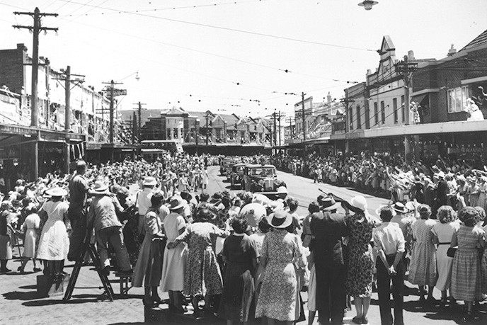 Neutral Bay, Military Road, Queen Elizabeth II, Royal visit, 1956, Sydney history