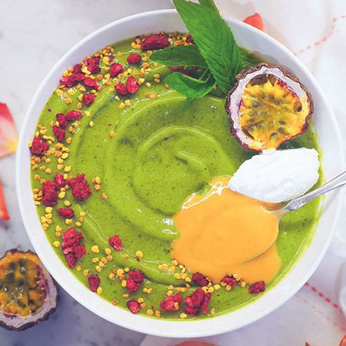 green smoothie bowl, green smoothie, bowl, healthy food, healthy recipe