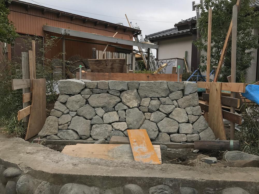 石積み・土塀の施工6