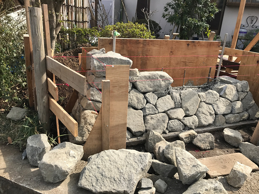 石積み・土塀の施工5