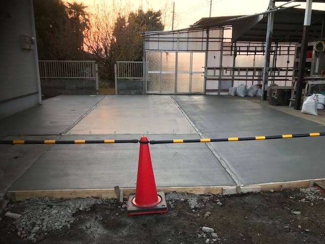 駐車スペース土間工事3