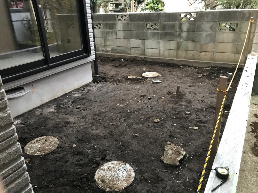 庭造り3 施工前