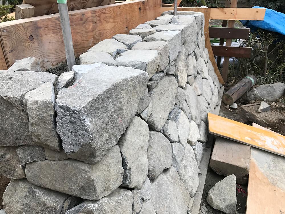 石積み・土塀の施工1