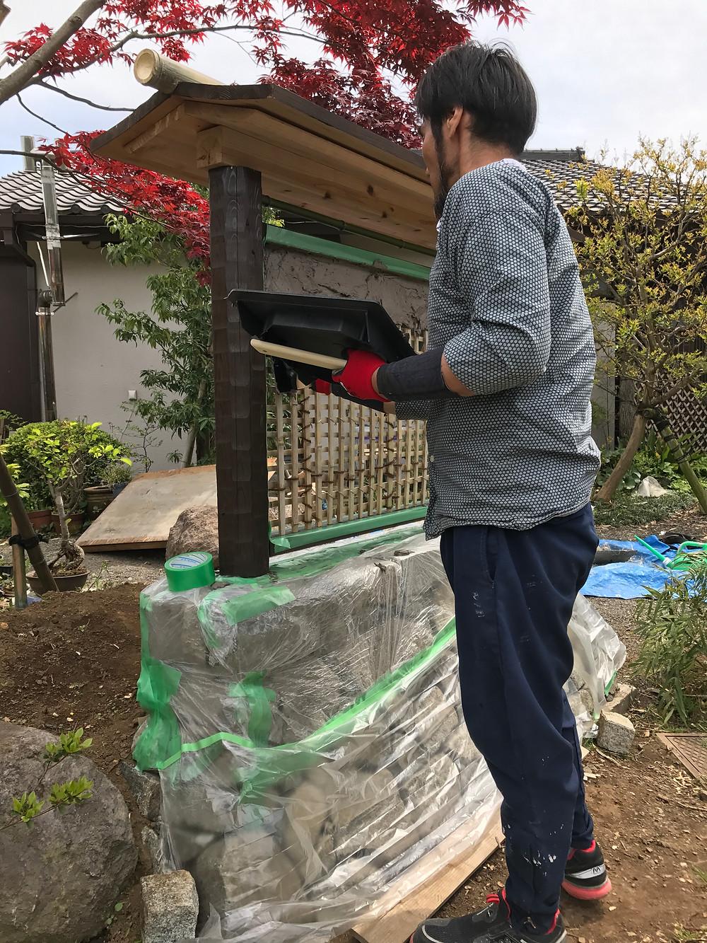 石積み・土塀の施工12