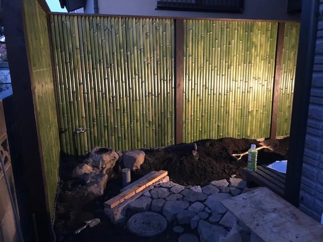 坪庭造り 延べ段・飛び石・蹲踞11