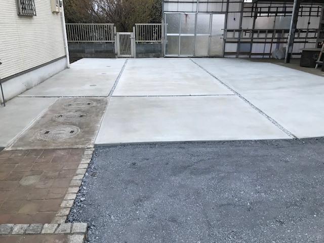 駐車スペース土間工事1