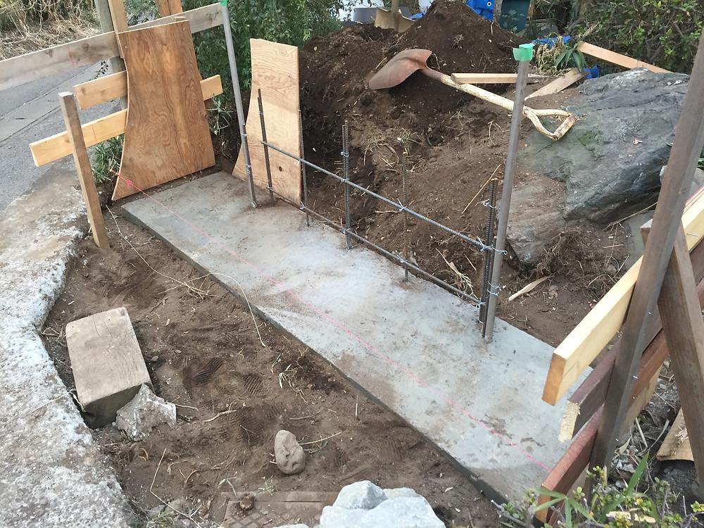 石積み・土塀の施工2