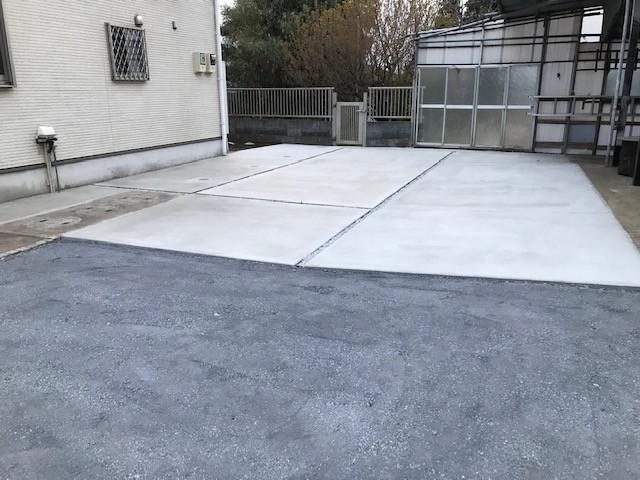 駐車スペース土間工事2
