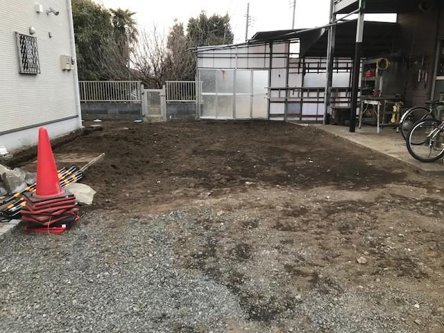 駐車スペース土間工事9