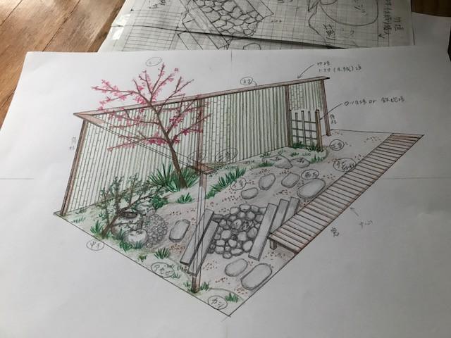 庭造り1 パース図