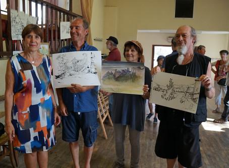 Journée de peinture à Calvignac