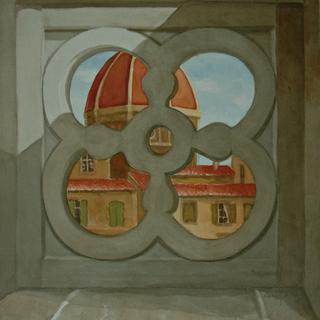 View of Uffizi from Duomo
