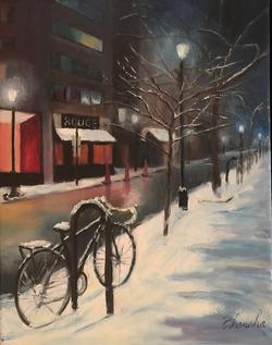 Bicycles Snow