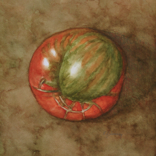 Heirloom Tomato in Red & Green