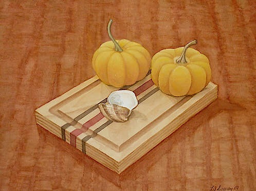 Gourds on a Board