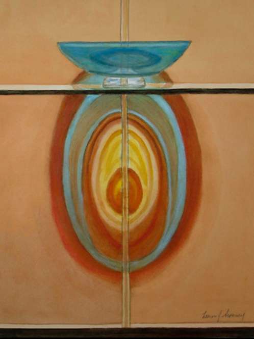 Reflections of Blue Glass- O'Keeffe Homage