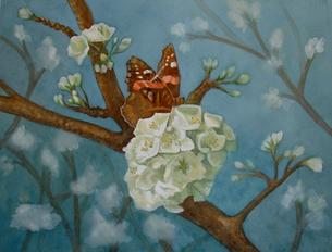 Butterfly in a Plum Tree