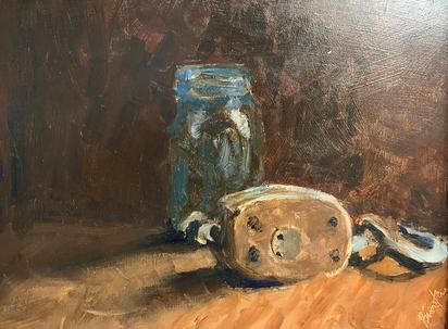 Mason Jar and Pulley