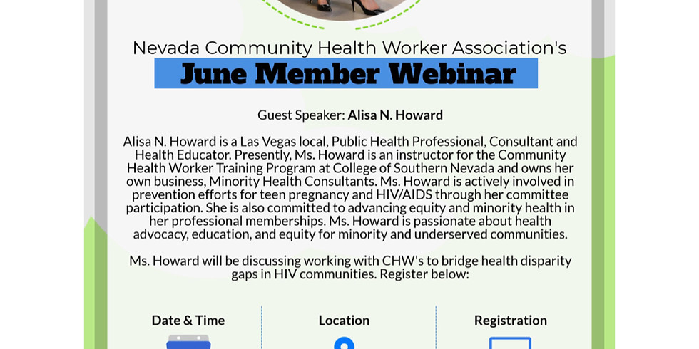 Working with CHW's on How to Bridge Health Disparity Gaps in HIV