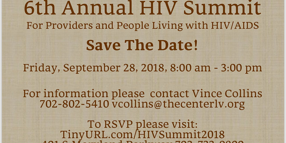 Speaker for 6th Annual HIV Summit