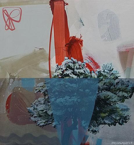 Snowy Pine w/ Red Star