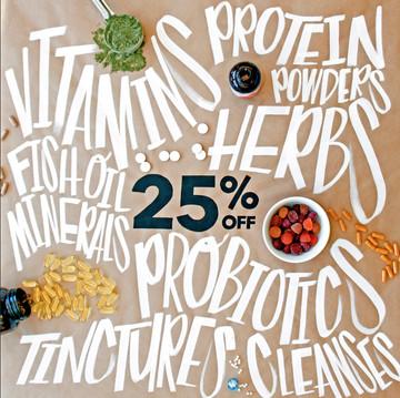 Supplement Sale Instagram Graphic