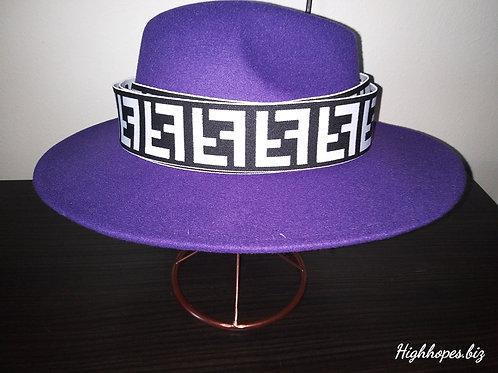 Purple Fedora w/Reversible Fendi Band