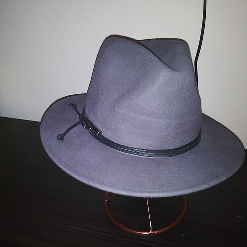 Classic Fedora With Wrap Belt Band