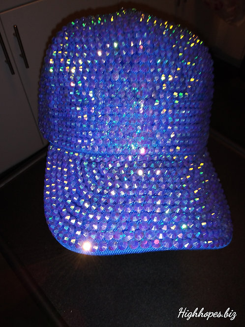 Blue Bling Baseball Cap